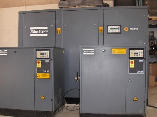 Atlas copco kompressor brugt
